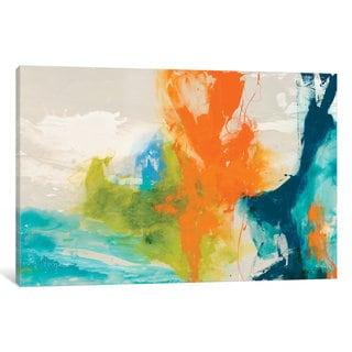 iCanvas 'Tidal Abstract I' by Sisa Jasper Canvas Print