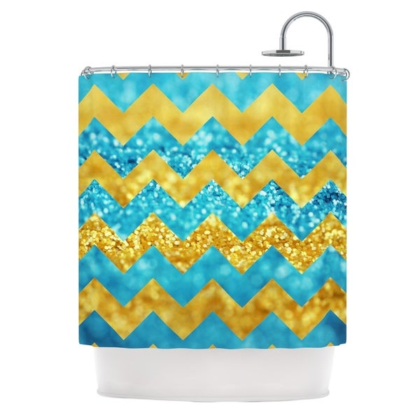 KESS InHouse Beth Engel Blueberry Twist Chevron Shower Curtain (69x70)