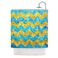 "KESS InHouse Beth Engel ""Blueberry Twist"" Chevron Shower Curtain (69x70) - 69"" x 70"""