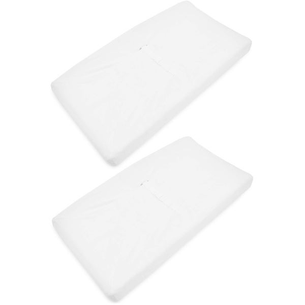 American Baby Company White Heavenly Soft Contoured Pad Changing Table Cover (2 Pack)