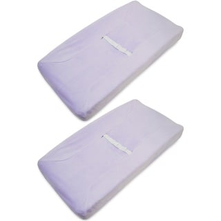 American Baby Company Lavender Heavenly Soft Contoured Pad Changing Table Cover (2 Pack)