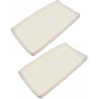 American Baby Company Ecru Heavenly Soft Contoured Pad Changing Table Cover (2 Pack)