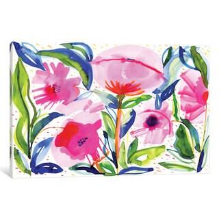 iCanvas 'Pink Poppies' by Sara Franklin Canvas Print