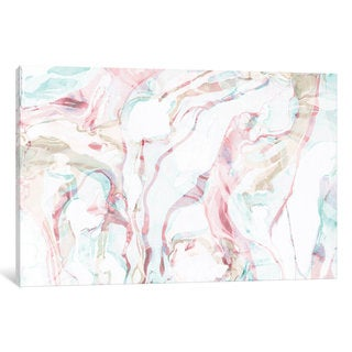iCanvas Pink Marble by Sara Franklin Canvas Print