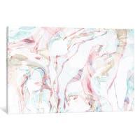 iCanvas Pink Marble by Sara Franklin Canvas Print