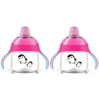 Philips Avent Pink/Pink 7-ounce My Penguin Sippy Cup (2 Pack)