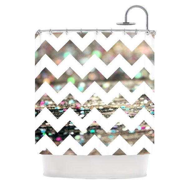 KESS InHouse Beth Engel After Party Chevron Shower Curtain (69x70)