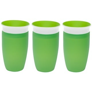 Munchkin Green 10-ounce Miracle 360 Degree Spoutless Cup (3 Pack)