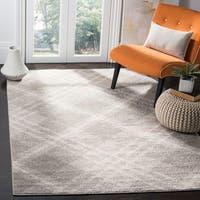 Safavieh Adirondack Contemporary Plaid Grey / Ivory Area Rug - 4' x 6'