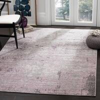 Safavieh Adirondack Modern Abstract Grey / Purple Area Rug - 4' x 6'