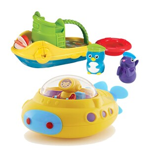 Munchkin Tug Along Boat Bath Toy with Undersea Explorer