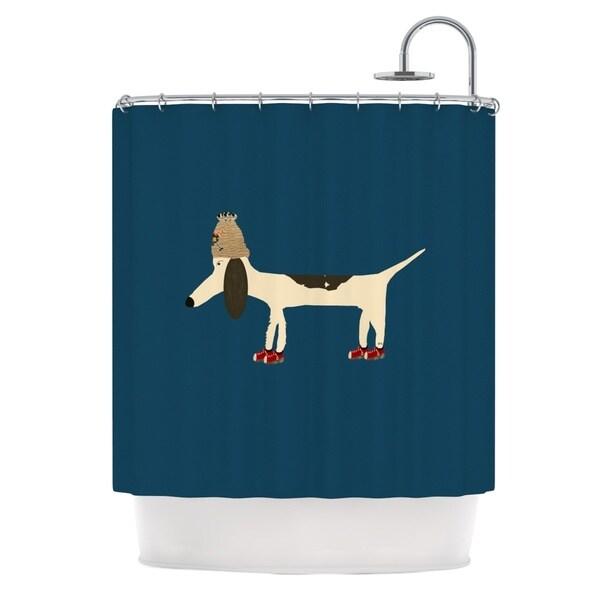 KESS InHouse Bri Buckley Chien Blue Shower Curtain (69x70)