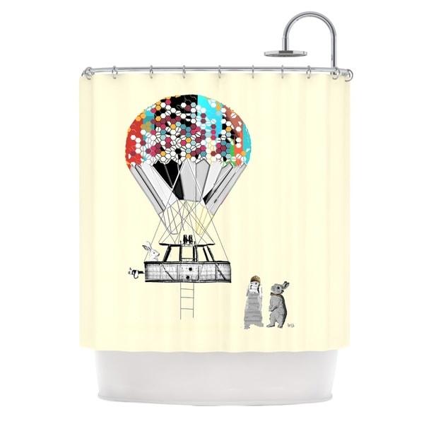KESS InHouse Bri Buckley Adventure Days Tan Shower Curtain (69x70)