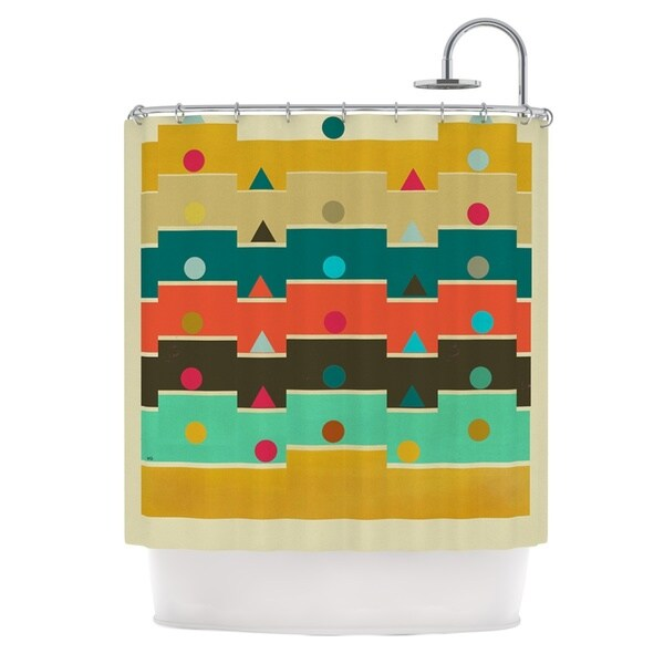 KESS InHouse Bri Buckley Modern Graphics Multicolor Geometry Shower Curtain (69x70)