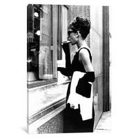 iCanvas 'Breakfast At Tiffany's Series: Audrey Hepburn Window Shopping II' by Radio Days Canvas Print