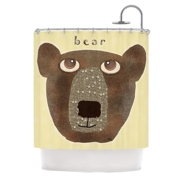 KESS InHouse Bri Buckley Bear Brown Tan Shower Curtain (69x70)