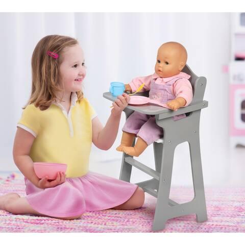 Badger Basket Doll High Chair - Executive Gray