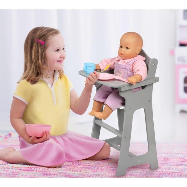 Badger Basket Executive Gray Doll High Chair