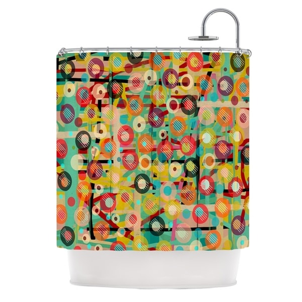 KESS InHouse Bri Buckley Gift Wrapped Crazy Abstract Shower Curtain (69x70)