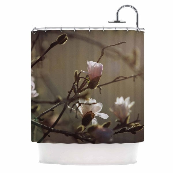 KESS InHouse Angie Turner Magnolia Blooms Pink White Shower Curtain (69x70)