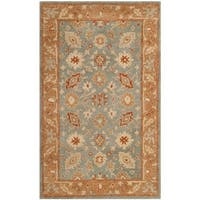 Safavieh Antiquity Bohemian Hand-Tufted Blue/ Beige Wool Area Rug - 3' x 5'