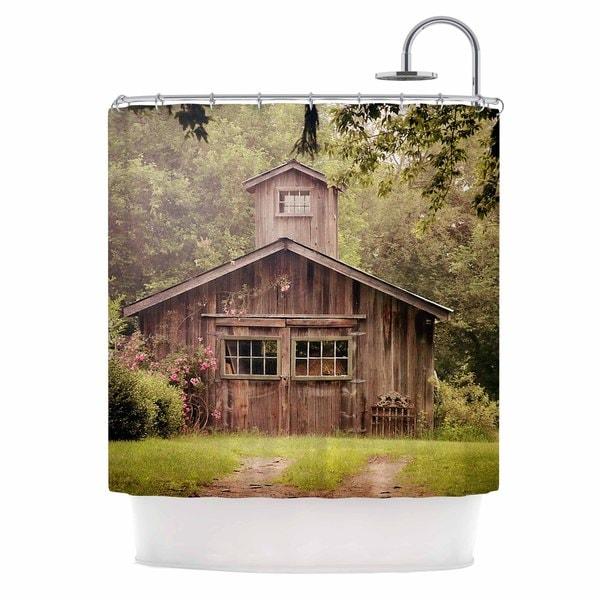 KESS InHouse Angie Turner Shabby Chic Barn - Nature Photography Shower Curtain (69x70)