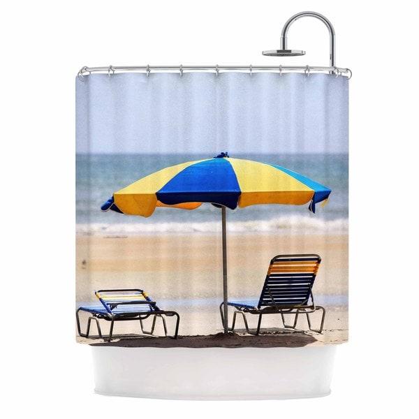KESS InHouse Angie Turner Umbrella - Coastal Photography Shower Curtain (69x70)