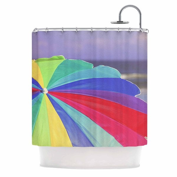 KESS InHouse Angie Turner Beach Umbrella - Coastal Photography Shower Curtain (69x70)