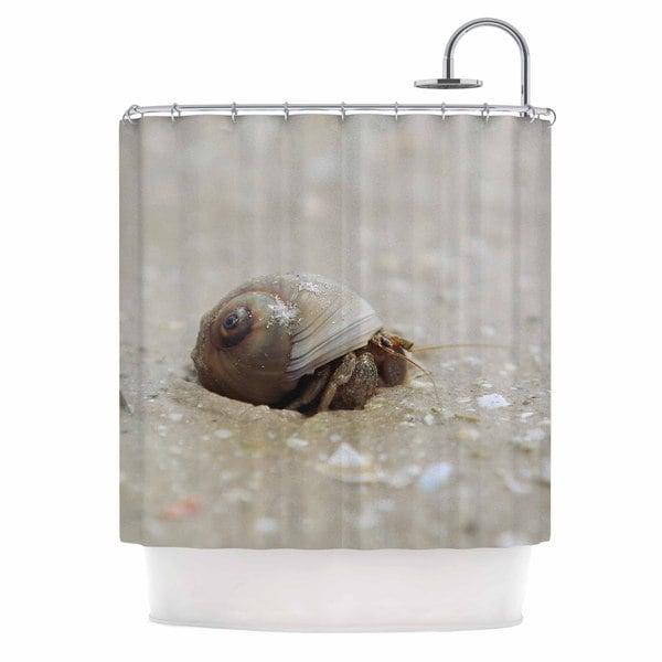 KESS InHouse Angie Turner Hermit Crab Brown Photography Shower Curtain (69x70)