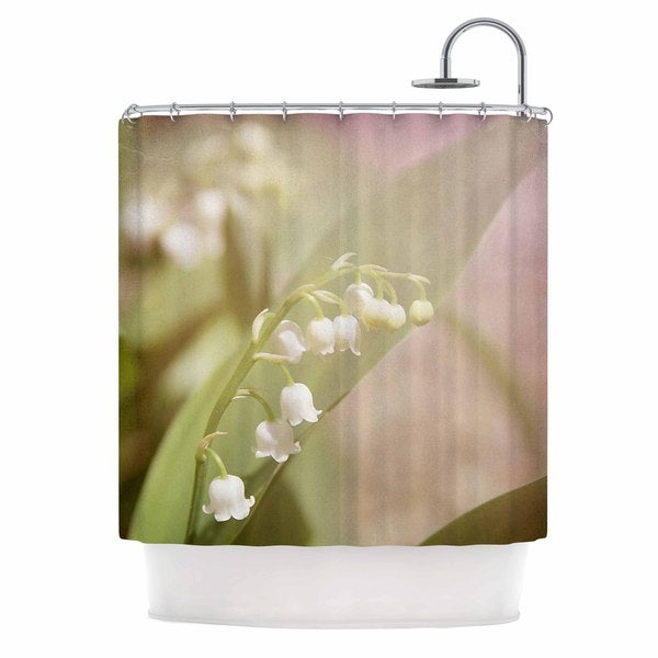 KESS InHouse Angie Turner Lily Of The Valley White Green Shower Curtain (69x70)