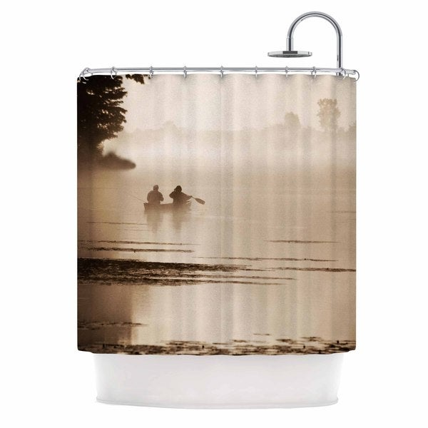 KESS InHouse Angie Turner Misty Morning Gray White Shower Curtain (69x70)