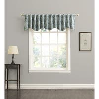 Sun Zero Mayfield Woven Floral Energy Efficient Blackout Back-Tab Curtian Valance