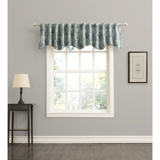Sun Zero Mayfield Woven Floral Energy Efficient Blackout Back-Tab Curtian Valance (3 options available)