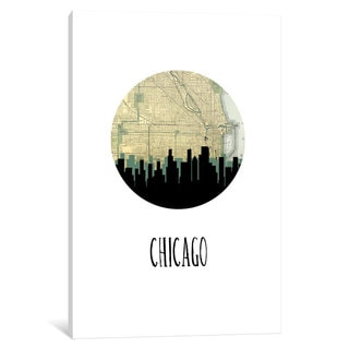 iCanvas 'City Spotlight Series: Chicago' by PaperFinch Design Canvas Print
