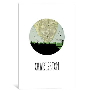 iCanvas 'City Spotlight Series: Charleston' by PaperFinch Design Canvas Print