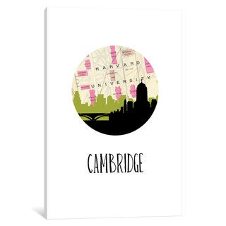 iCanvas 'City Spotlight Series: Cambridge' by PaperFinch Design Canvas Print