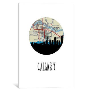 iCanvas 'City Spotlight Series: Calgary' by PaperFinch Design Canvas Print