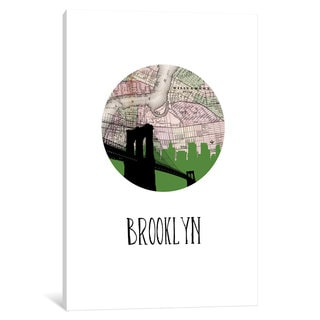 iCanvas 'City Spotlight Series: Brooklyn' by PaperFinch Design Canvas Print