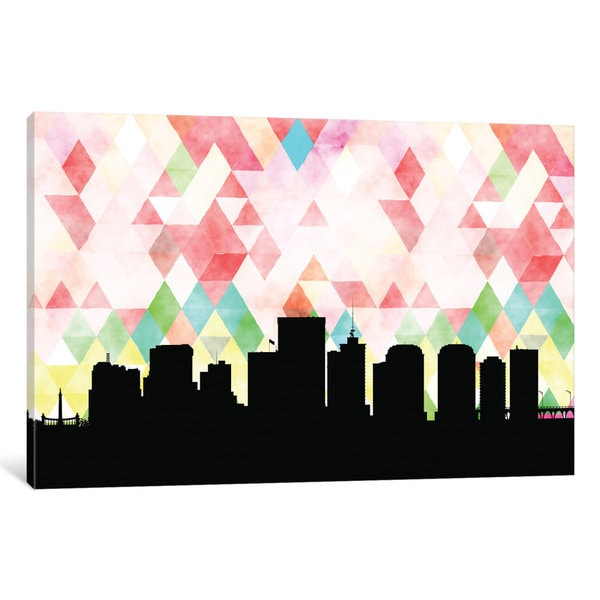 iCanvas 'Geometric Skyline Series: Richmond' by PaperFinch Design Canvas Print