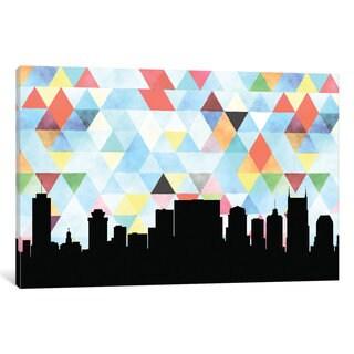 iCanvas 'Geometric Skyline Series: Nashville' by PaperFinch Design Canvas Print