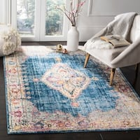 Safavieh Bristol Bohemian Blue/ Ivory Polyester Area Rug - 4' x 6'