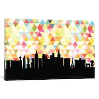 iCanvas 'Geometric Skyline Series: Las Vegas' by PaperFinch Design Canvas Print
