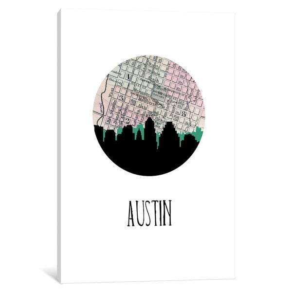 iCanvas 'City Spotlight Series: Austin' by PaperFinch Design Canvas Print