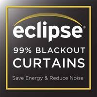 Eclipse Microfiber Grommet Blackout Window Curtain Panel