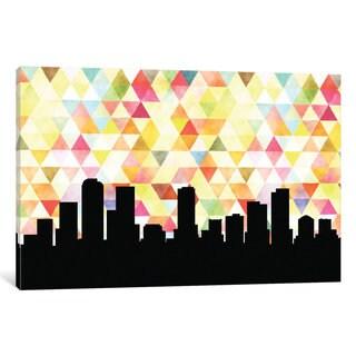 iCanvas 'Geometric Skyline Series: Denver' by PaperFinch Design Canvas Print