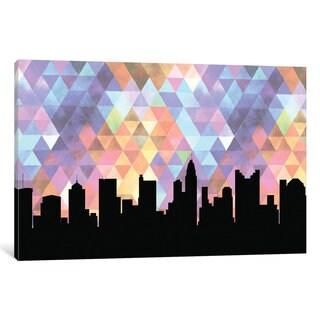 iCanvas 'Geometric Skyline Series: Columbus' by PaperFinch Design Canvas Print