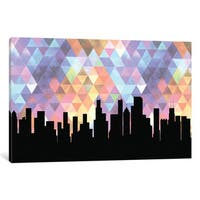 iCanvas 'Geometric Skyline Series: Chicago' by PaperFinch Design Canvas Print