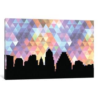 iCanvas 'Geometric Skyline Series: Austin' by PaperFinch Design Canvas Print