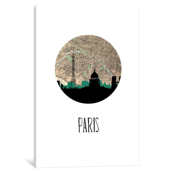 iCanvas 'City Spotlight Series: Paris' by PaperFinch Design Canvas Print