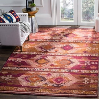 Safavieh Canyon Hand-Woven Pink/ Red Wool Area Rug (4' x 6')